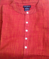 ALL NEW Cotton Kurta Shirts in Orange RED (UNISEX) - XL Only