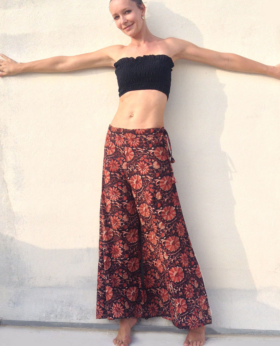 ac09163f50 All New Bell Bottoms - Palazzo Wide Leg Pant - Floral Brown- Size S ...