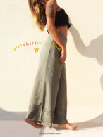 All New Bell Bottoms - Palazzo Wide Leg Pant - Khaki Green