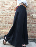All New Bell Bottoms - Palazzo Wide Leg Pant - BLACK TEXTURED