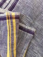 All New Unisex Indian Wrap Yoga Pants - White Purple Checks - S