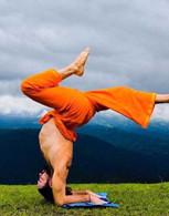 ALL NEW UNISEX Indian Wrap Yoga Pants - Orange Gold