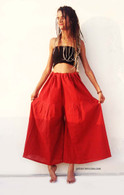 ALL NEW Cotton Culottes - Red - One Size