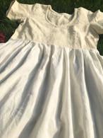 Crushed Cotton Dress - Cream