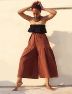ALL NEW Cotton Culottes - Brown- One Size