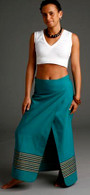 Sumati Green Wrap Around Skirt - XS