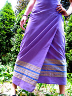 Purple Wrap Around Skirt - XS