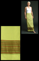Light-Green Two-toned Wrap Around Skirt - XS