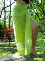 Light-Green Transparent trim /Two-toned Wrap Around Skirt