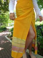 Mango Transparent trim/ Two-toned Wrap Around Skirt - M & M/X Only