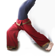 Unisex Yoga Pant in Sari Burgundy