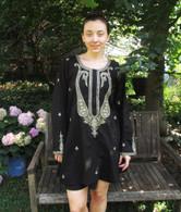 BLACK Hand Embroidered Kurta - L & XL