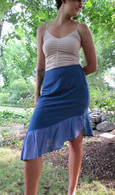 Short Ruffle Skirt in Black, Green, Blue