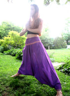 SARI Harem Pant Purple - Fit size 4-8