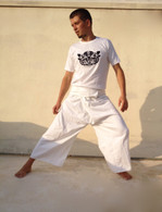 ALL NEW Unisex Yoga Pants IN White Cotton