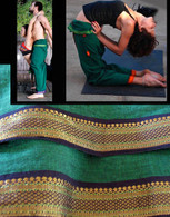 NEW UNISEX ORGANIC INDIAN TRIM YOGA PANT in SPRING GREEN