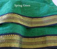 UNISEX ORGANIC INDIAN TRIM YOGA PANT in SPRING GREEN
