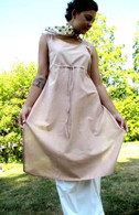 Ladies Long  Tunic with Pull-String in BEIGE