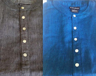 Cotton Kurta Shirts in BLUE & GRAY, (MENS/UNISEX) - SALE Size - S