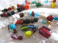 Japa Mala Prayer Beads - White/Burgundy