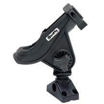 280 Bait Caster/Spinning Rod Holder w/241 Deck/Sidemount-Black