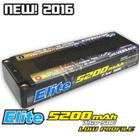 Elite 5200mah LCG Low Profile 50C 7.4V Hard Case Inboard