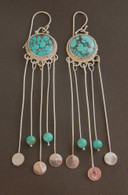 sterling and turquoise chandelier earrings