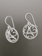 Sterling Silver Domed Small Circle Earring.