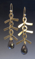 smoky topaz and 14kgf earrings