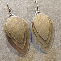 Three Layer Fused Silver Earrings