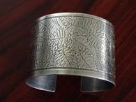 Sterling Leaf Cuff