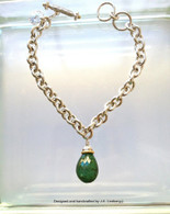Sterling 18k gold w/ tourmaline bracelet.