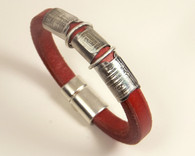 MM187 - Red Leather Bracelet