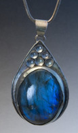 Sterling silver and labradorite pendant (sold with a 24 inch chain priced separately at $65)