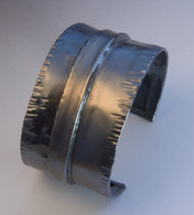 Fold-formed Sterling Cuff, oxidized