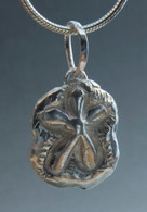 Sterling shell pendant on a 16-inch sterling snake chain