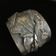 Sterling Silver Fold-form Large Cuff