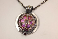 Iridescent Glass Flower Pendant