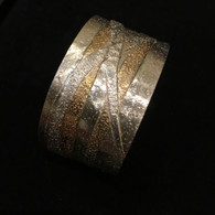Argentium Sterling Silver and Brass Fused Cuff