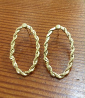 14K Gold Oval Earrings