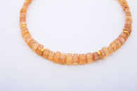 Natural Topaz Crystals Necklace w/18k Vermeil beads, 14k clasp