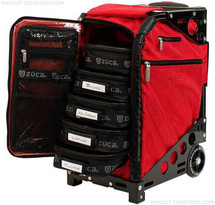 New! ZUCA Pro Makeup Artist Case in Ruby Red with Black Frame