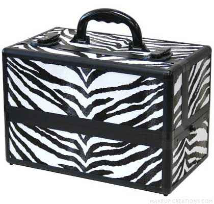 Zebra Makeup Train Case | ZebraTrain Case