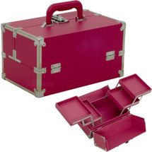 Japonesque Medium Pink Makeup Train Case