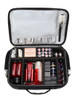 Travel Stylist case with Strap. Silver Lined.