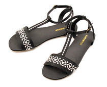 Luckers Women's Embroidered Strap Ankle Sandals