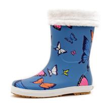 Luckers Girl's Trendy Foldable Wellies Rain Boots