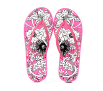 Luckers Girls Seaside Flowers Flip Flops Sandals
