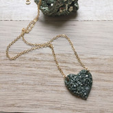 Crush Heart Necklace Gold
