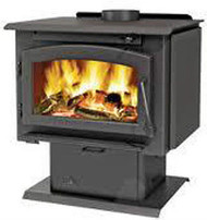Napoleon Timberwolf EPA 2200 Wood Stove - Pedestal or Legs, Fan, & Ashpan Included!!!